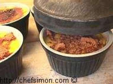 Caraméliser une crème brûlée - Etape 2