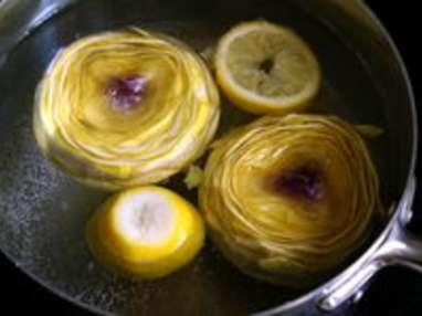 Cuire et parer un fond d'artichaut - Etape 2