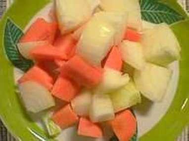 Tailles des légumes
