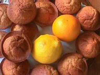 Muffins aux agrumes et graines de pavot