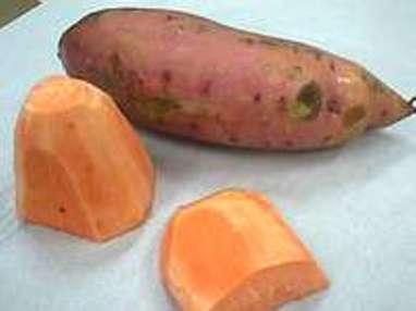 Frites et chips de patate douce - Etape 1