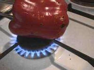 Peler un poivron à la flamme - Etape 1