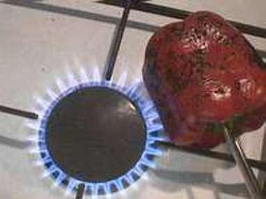 Peler un poivron à la flamme - Etape 2