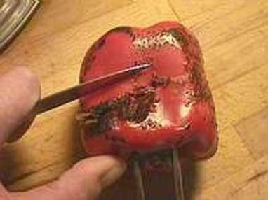 Peler un poivron à la flamme - Etape 4