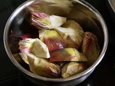 Artichauts poivrade sautés - Etape 3