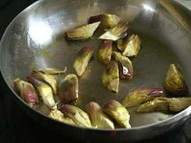 Artichauts poivrade sautés - Etape 5