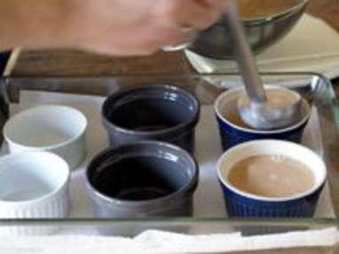 Petits pots de crème chocolat caramel - Etape 12
