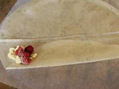 Samoussas framboises chocolat blanc - Etape 5