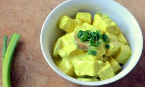 Curry de Tofu aux Champignons et à l'Oignon blanc
