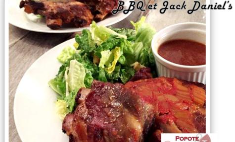 Côtes levées de porc au BBQ et Jack Daniel's