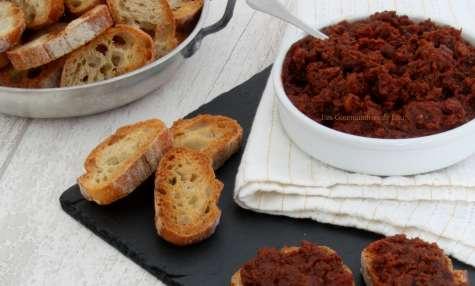 Tartinade tomates séchées et olives noires