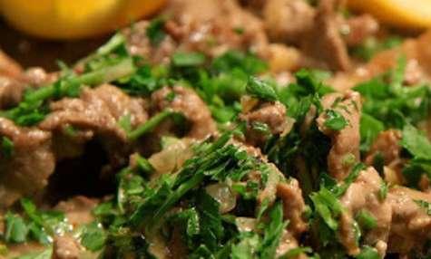 Emincés de veau, sauce aux asperges - sans gluten