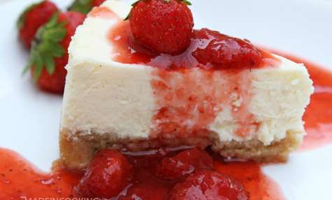 Cheesecake New-Yorkais et son coulis de fraises