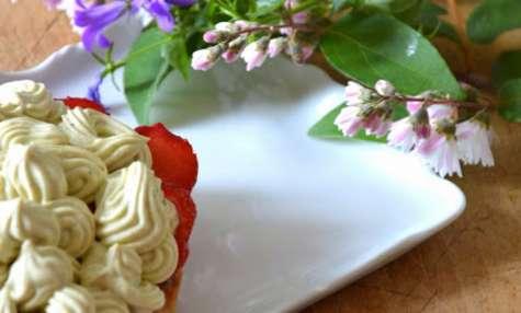 Tartelettes aux fraises et Crème pistache mascarpone