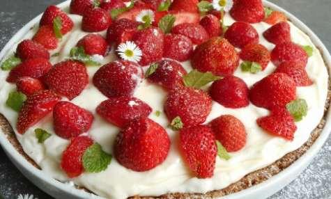 Tarte aux fraises et au mascarpone citronné sans cuisson