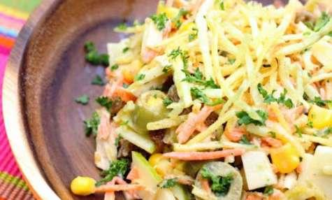 Salade de poulet comme au Brésil: salpiçao de frango