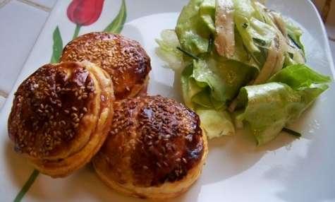 Chaussons feuilletés au chorizo, figue et fromage de brebis basque