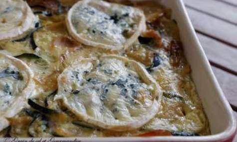 Courgettes et pommes de terre fondantes au bleu