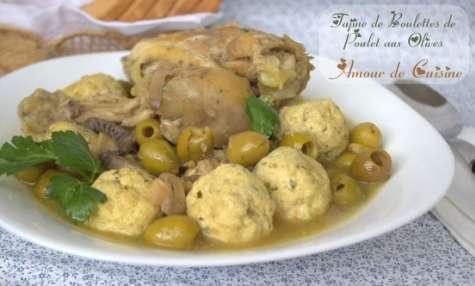 tajine aux boulettes de poulet et olives