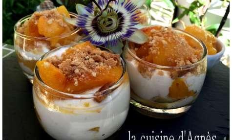 Trifle aux prunes confites à la fleur d'oranger