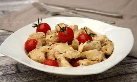 Émincé de dinde au balsamique et tomates cerises