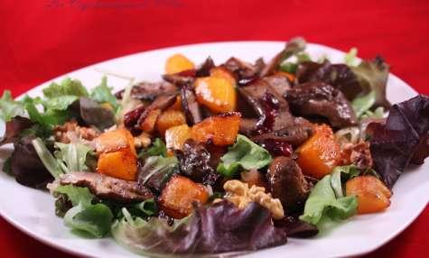 Salade de courge grillée et cèpes