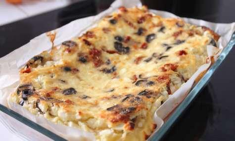 Ugnspannkaka aux olives, feta et tomates séchées