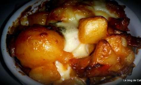 Gratin de pommes de terre et chorizo au Morbier