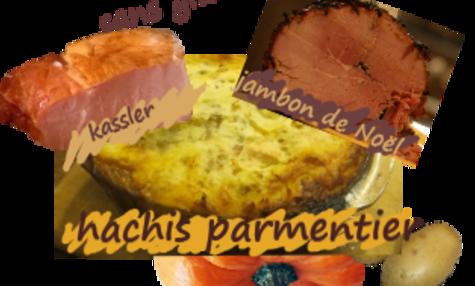 Kassler (ou jambon à la broche) en gratin à la purée de courge