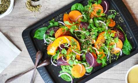 Salade de légumes d'automne au Dukkah