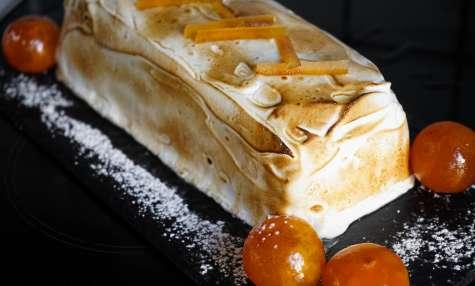 Bûche de noël glacée à la mandarine