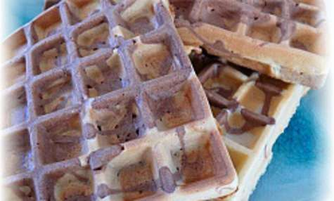 Gaufres Marbrées Choco-Vanille