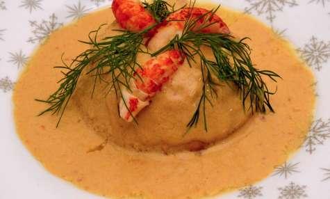 Flans au homard et aux écrevisses