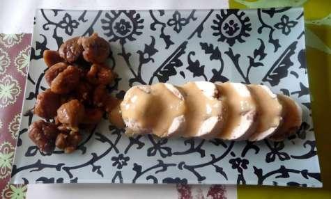 Ballottines de poulet aux marrons sauce au foie gras