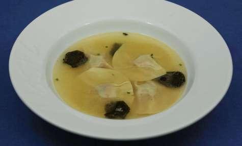 Raviolis au foie gras et aux truffes