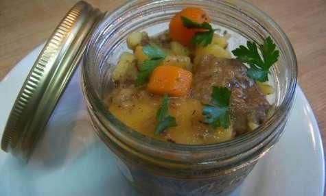 Joues de porc au cidre et pommes cannelle