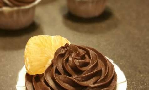 Cupcakes aux mandarines, glaçage mandarine curd & chocolat