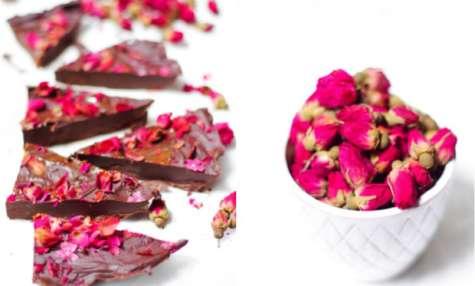 Chocolat en fleurs