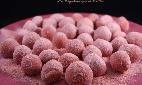 Truffes aux biscuits roses de Reims