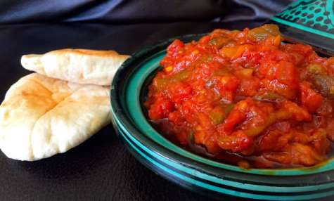 Matbuha Salade Marocaine de Tomates et Poivrons Confits