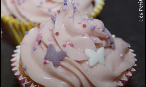 Cup cakes vanille framboise