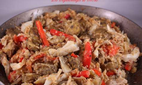 Green fig and saltfish