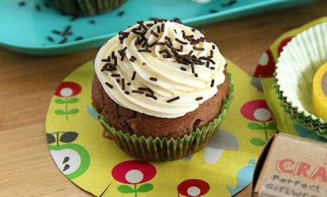 Cupcake chocolat et aux pépites de chocolat