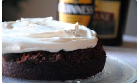 Guinness cake au chocolat et crème mascarpone au bailey's