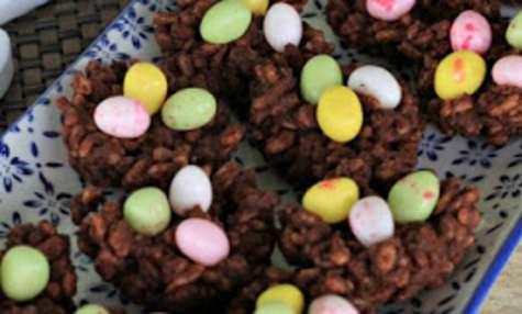 Nids de Pâques au chocolat