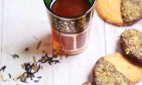 Palmiers chocolat et pistaches concassées