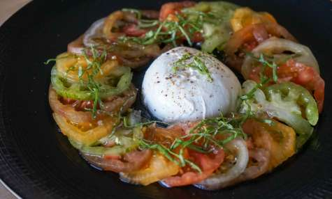 Carpaccio de tomates mozzarella