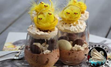 Nids merveilleux de Pâques en verrines