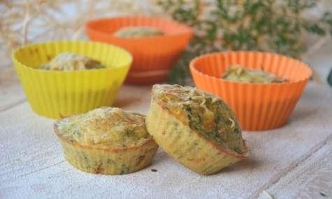 Mini cakes aux fanes de carottes