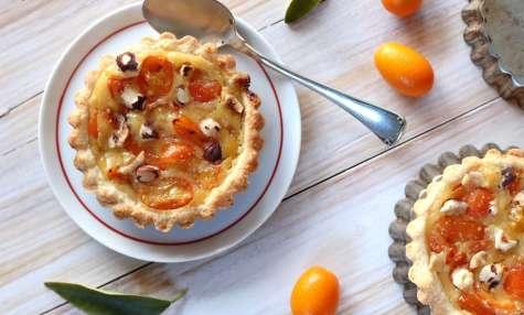 Tartelettes aux kumquats et noisettes